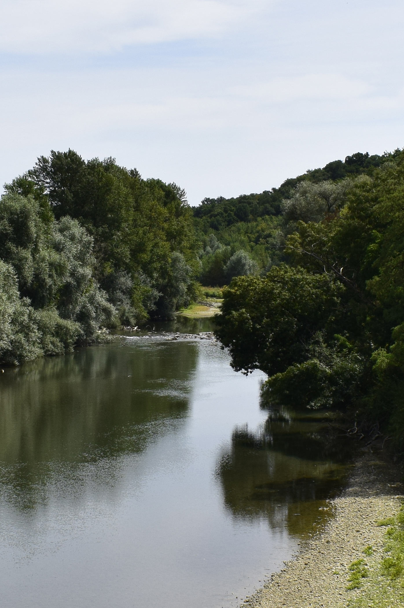 River Adour from bridge at Saint Mont, near Riscle